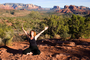 Johanna Maheshvari Mosca leads vortex yoga, meditation and hiking retreats and excursions in Sedona, Grand Canyon & Encinitas, CA