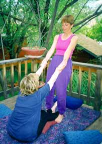 Phoenix Rising Yoga Therapy session with Johanna Maheshvari Mosca