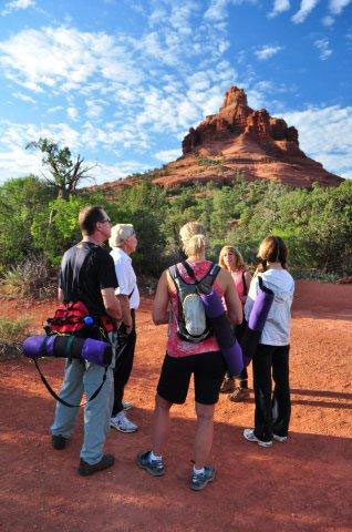 Yoga & Hiking with Guide at Bell Rock on Sedona Spirit Retreat