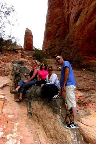 Vortex yoga & meditation hike guided by Sedona Spirit Yoga & Hiking
